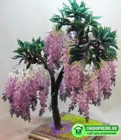 деревья из бисера и схемы
