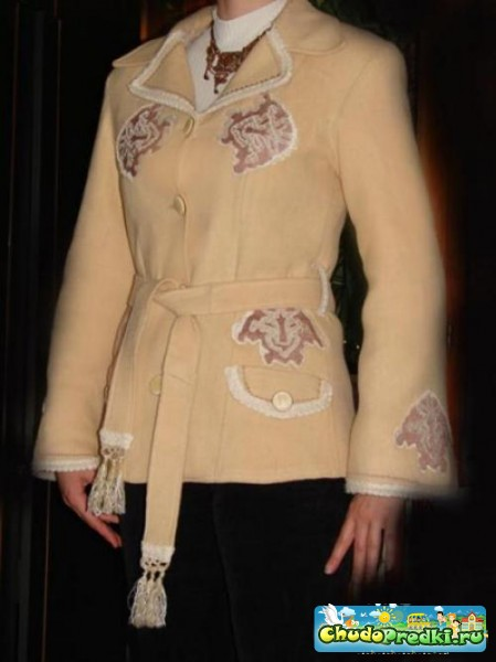 вышивка на пальто фото