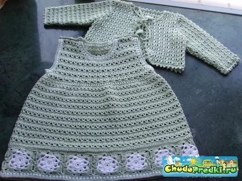 мир вязания вязаные платья для самых маленьких